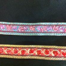 Beaded Jacquard Ribbon Trim